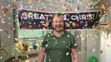 Chris the plumber in Rated People TV advert 2021