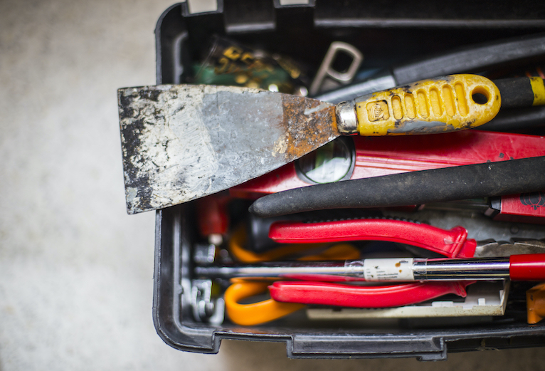 Toolbox from high angle