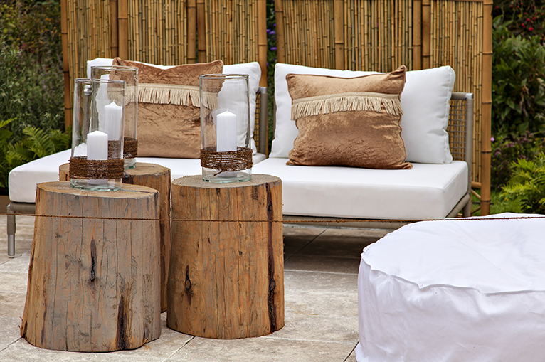 March home updates: Rustic style garden seating area