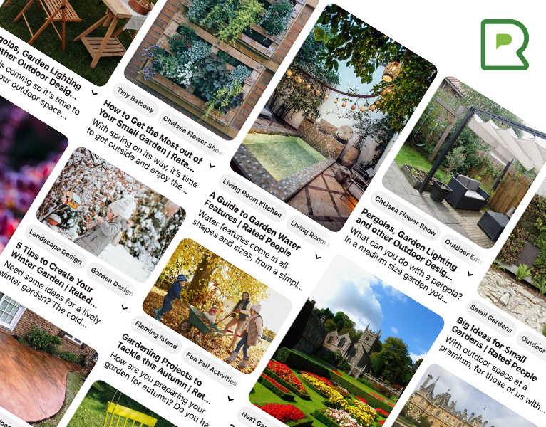 Rated People's Gardening and Landscaping Pinterest board