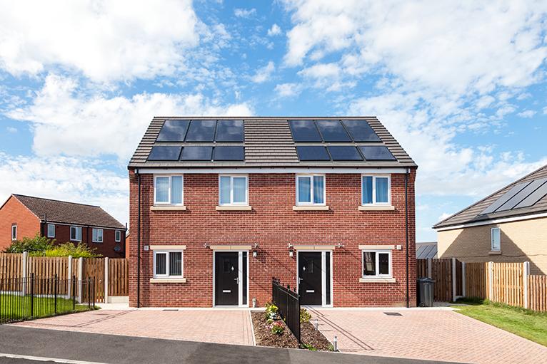 Solar panels on new build homes