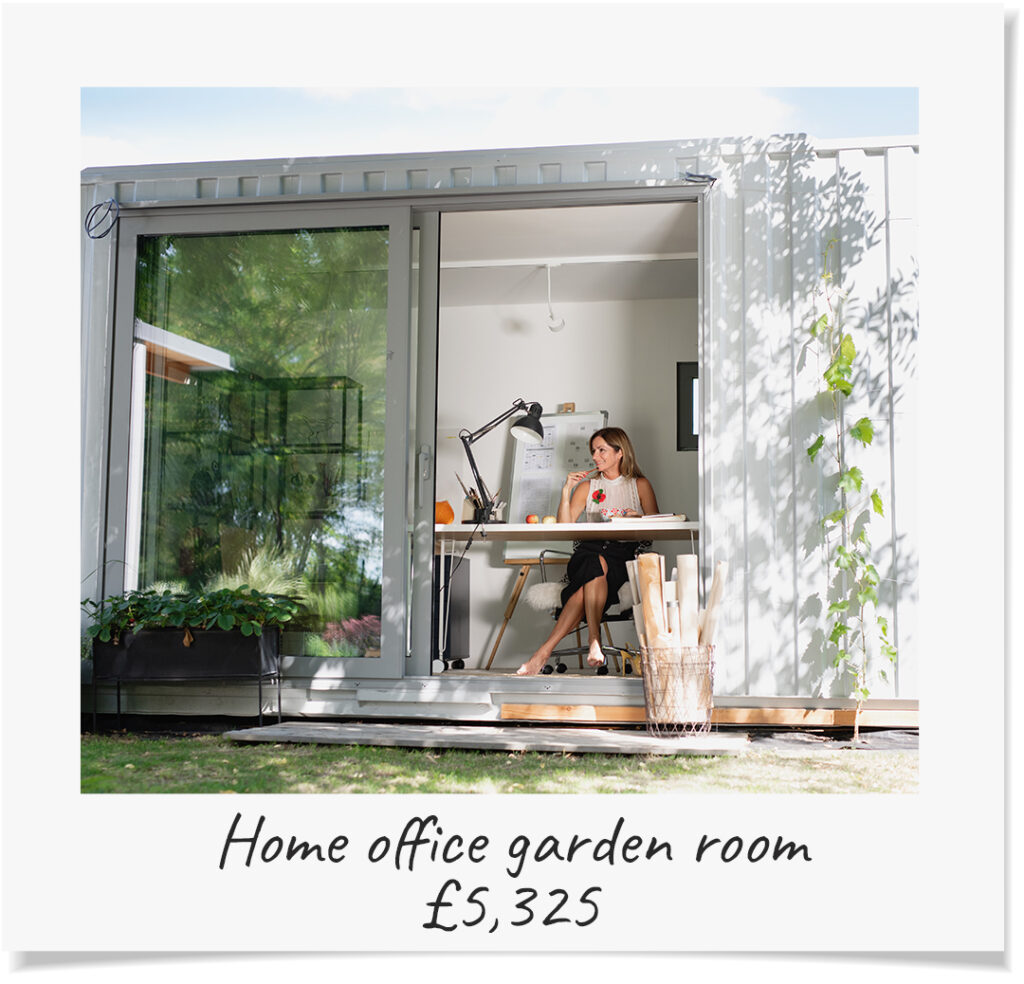 Home office garden room adds £5,325 to your property's value