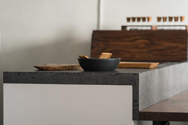 Kitchen makeover hacks: Concrete terrazzo countertop