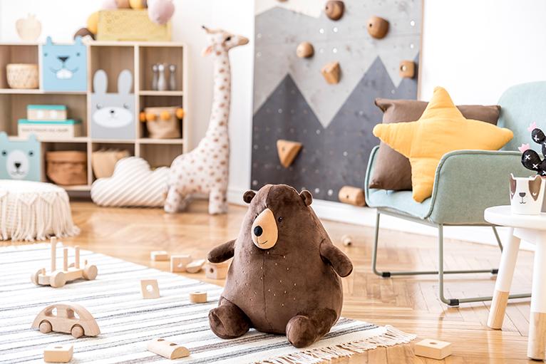 Scandinavian inspired kids bedroom