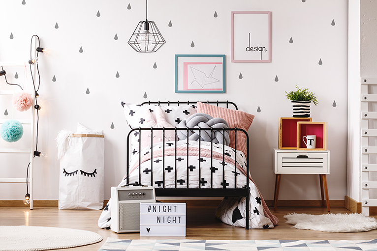 Pastel kids bedroom
