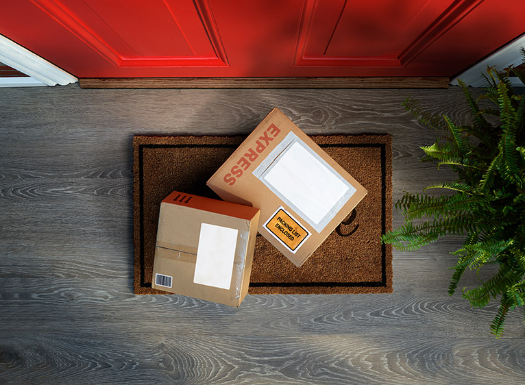 Home security precautions: Parcels left on doorstep
