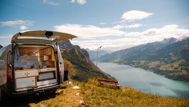 Built in camper van storage